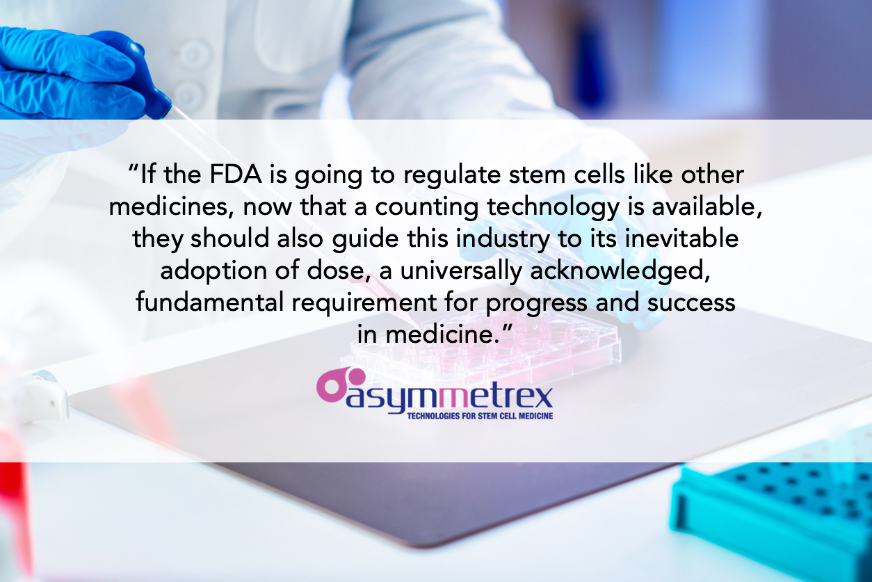 Asymmetrex Leads OCTNE 2019 Discussion of the Growing Need for Tissue Stem Cell-Specific Dosing In Stem Cell Clinical Trials
