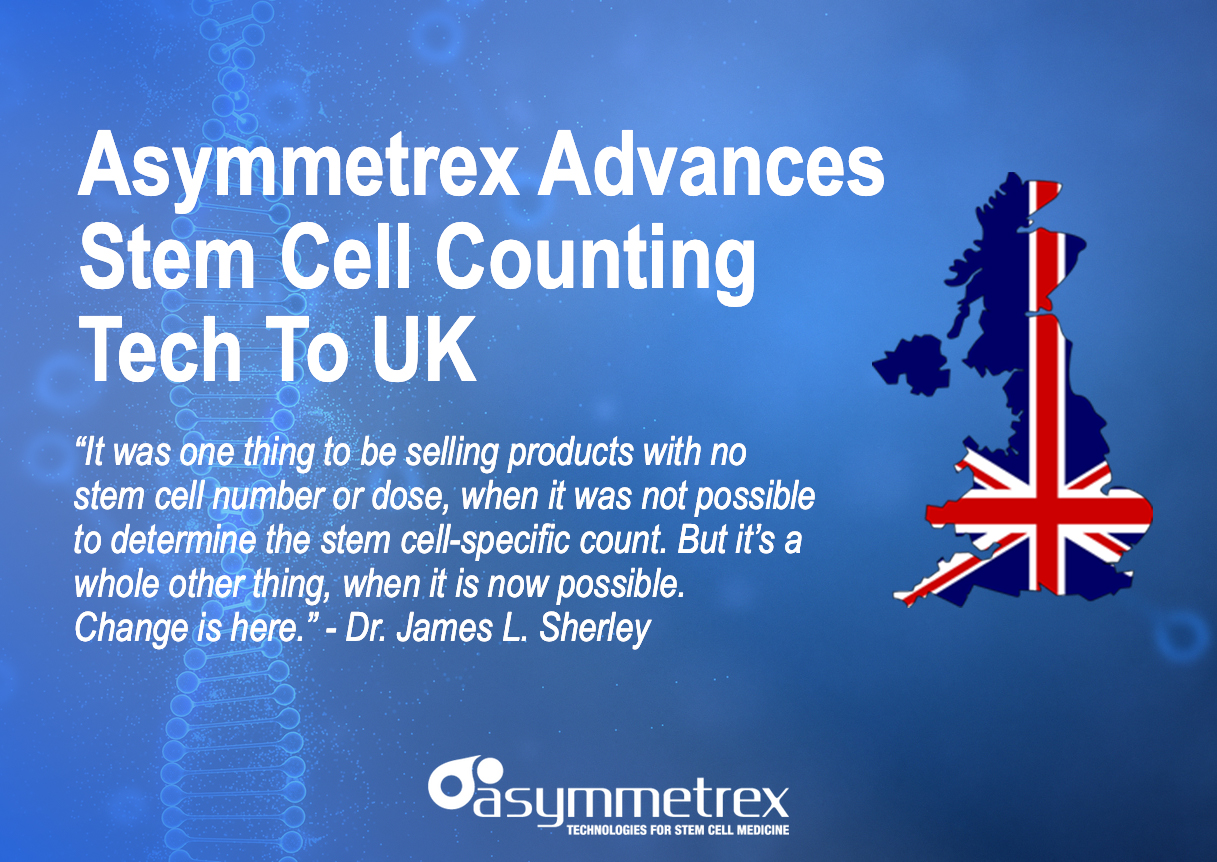 Asymmetrex Obtains UK Patent for Tissue Stem Cell-Specific Counting and Testing
