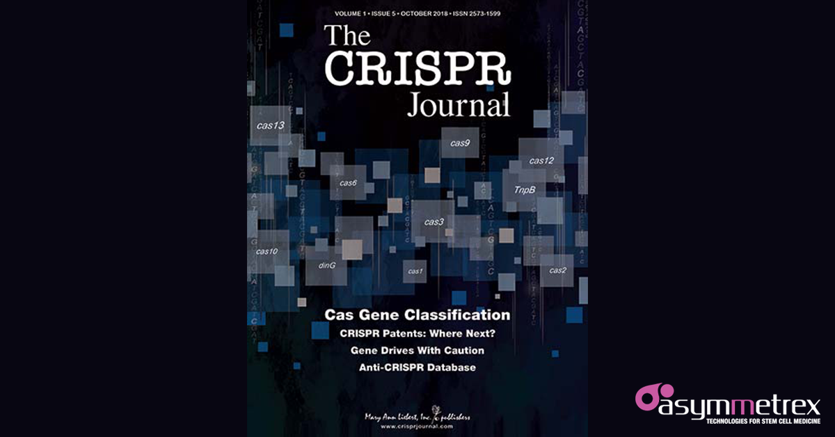 Asymmetrex Article on p53 and CRISPR/Cas9 is Among CRISPR Journal's 'Articles Everyone is Talking About'