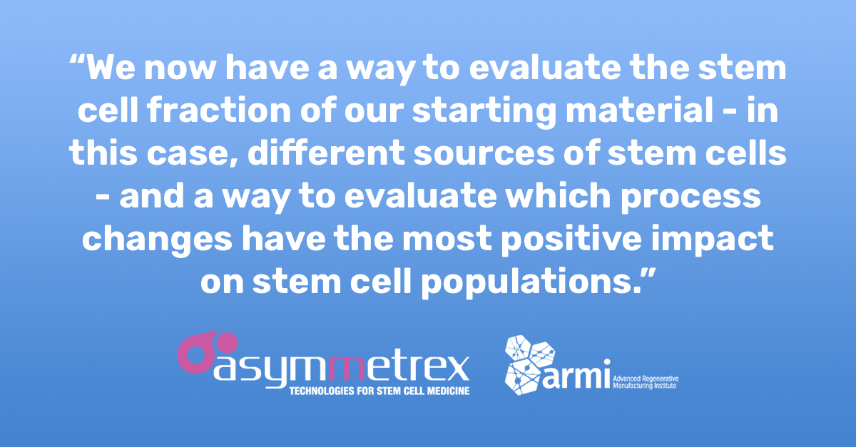 Asymmetrex Awarded Grant from ARMI BioFabUSA to Develop Tissue Stem Cell Counting Technology for Cell Biomanufacturing